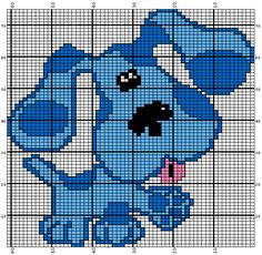Blue from Blues Clues: knitting chart