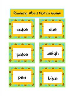 Free rhyming game.  Click the image.