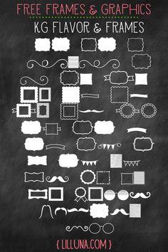 Free Frames and Graphics. LOVE these! { lilluna.com }