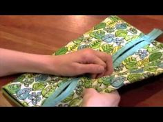 Bag Tutorial --from a placemat --DIY Vera Bradley - YouTube  This one is more like a cosmetic bag/travel bag.
