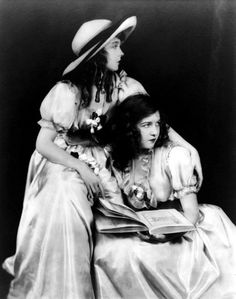 dorothi gish, cheney johnston, silent film, lillian gish, vintag photo, book, gish sister, alfr cheney, storm