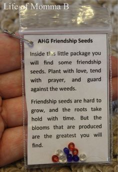 AHG Friendship Seeds SWAP / Life of Momma B