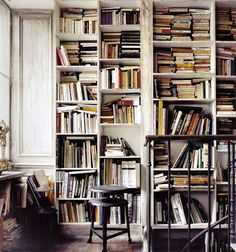 interior, houses, cover books, home libraries, rustic industrial, bookcas, shelv, homes, book cover