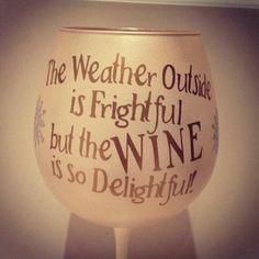Oh the weather outside is frightful, but the Wine is so delighful