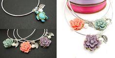 Sterling Silver Floral Bangles / Bracelets | Jane