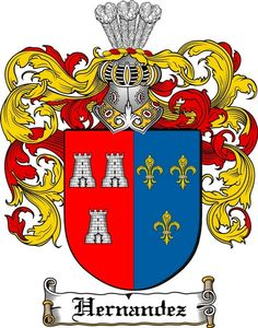 HERNANDEZ FAMILY CREST - COAT OF ARMS gift at www.4crests.com
