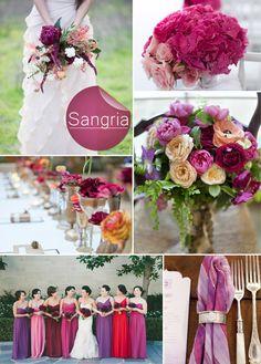 Fall Wedding Color Ideas 2014 Trends | Sangria