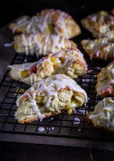 ... day peach scones with bourbon glaze brunch recipes peach scones