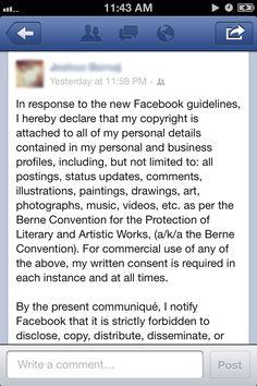 Fake #Facebook privacy notice circulates through newsfeeds