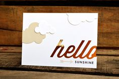 Hello Sunshine card by Jessica Witty