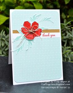 Stampin' Up ideas and supplies from Vicky at Crafting Clare's Paper Moments