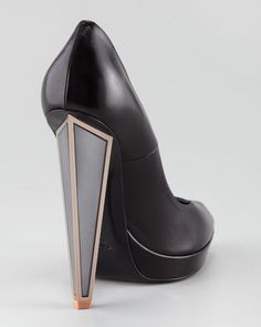 Yves Saint Laurent Mirrored Heel Pump - Neiman Marcus