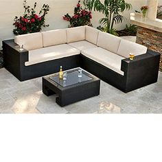 Savannah 3-piece Deep Seating Sofa Sectional and Table $1799 Costco