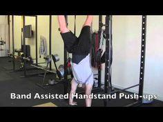 Crossfit: Handstand Push-up Progression handstand pushup