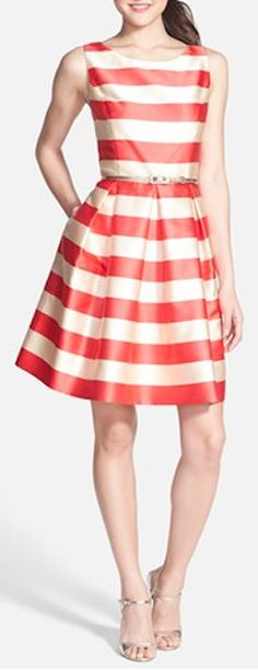 striped jacquard fit and flare dress  http://rstyle.me/n/iz8frpdpe