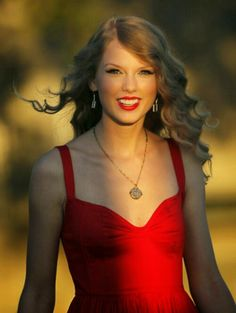a feminine neckline can do wonders like a sweetheart on taylor's red dress