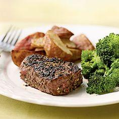 Filet Mignon with Fresh Herb and Garlic Rub | MyRecipes.com