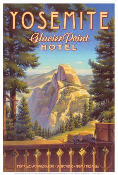 Glacier Point Hotel (no longer there) Yosemite National Park