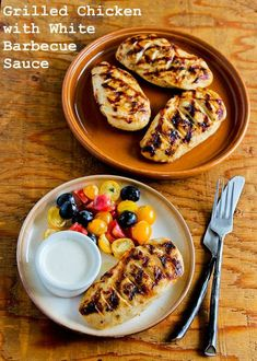 recipe for Grilled Chicken Breasts with White Barbecue Sauce