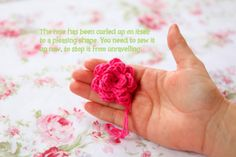 how to crochet tiny rose buds - Google Search