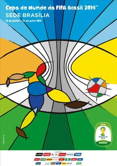 The posters of the 12 host cities of the FIFA World Cup 2014 (Brazil) - Brasília