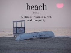 Beach, a place of relaxation, rest and tranquility