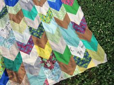 Pretty Potent chevron quilt