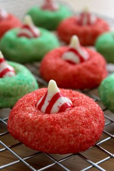 Baked Perfection: Candy Cane Blossoms