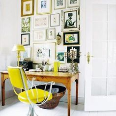 love the bright yellow chair.