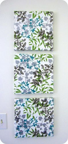 DIY - Mod Podge Tissue Paper Wall Art