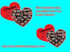 Valentine's Day Articulation Coin Toss   Pinned by SOS Inc. Resources.  Follow all our boards at http://pinterest.com/sostherapy  for therapy resources.
