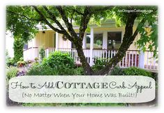 5 DIY Tips on How To Add Cottage Curb Appeal to your home no matter when it was built, complete with photos of our typical 80's-era ranch's transformation! An Oregon Cottage