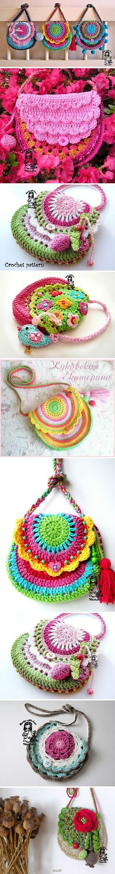Lots of crochet bags