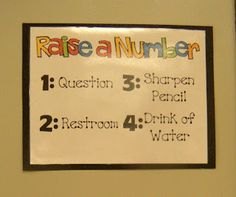 Classroom Management Idea... know what a child needs at a glance!