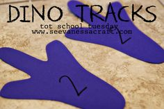 Dino Tracks Counting Activity for Toddlers & Preschoolers