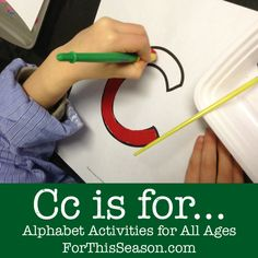 Cc is for... {Alphabet Activities for All Ages}
