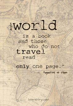 books, the world is a book quotes, travel read, life and adventure book, augustin
