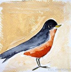 robins, painting studio, mai autumn, bird art, prints