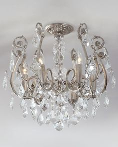 Mini Chandelier Flushmount Light Fixture at Horchow. This is just beautiful!