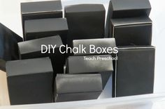 DIY Chalk Boxes by Teach Preschool