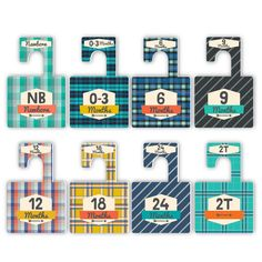 Baby Boy Closet Dividers - These adorable plaid nursery closet dividers are a simple and stylish way to organize your nursery closet. #PNshop
