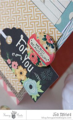 NEW collection!!!  Burlap and Bouquets from Fancy Pants Designs ---YAY!!!  Card by Jodi Sanford