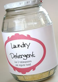 Homemade Laundry Detergeny. LOVE IT!!!!