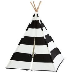 Teepee Time: Playtime Gets Graphic // Land of Nod, tent, black and white