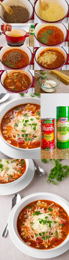 Lasagna parmesan soup - delicious recipe and easy to make and yummy