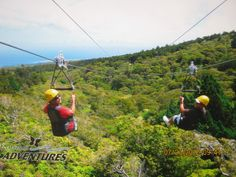 Ziplines.....Be sure to ask for David and Smitty (awesome guides)  Kapalua Adventures