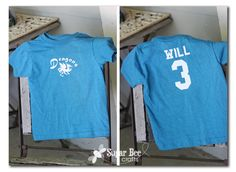 DIY T-ball Team Shirts with Iron-On Vinyl from Sugar Bee Crafts