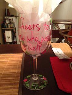 21st birthday glass!