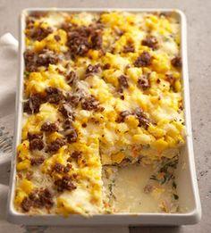 spicy brunch lasagna