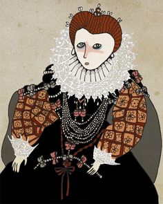 #Queen #Elizabeth I by @Nan Lawson on #Etsy. #tudor